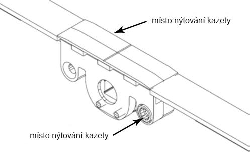 autoPilot-místo nýtování kazety