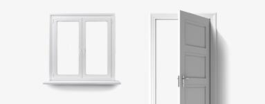 Moderní kování pro okna, dveře